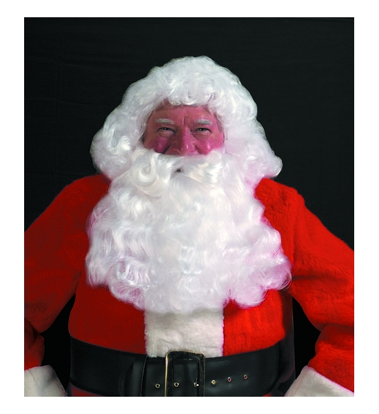 Deluxe Santa White Wig & Beard Set