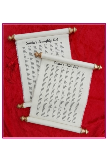11 x 17 SANTA'S NAUGHTY OR NICE LIST Canvas Roll..