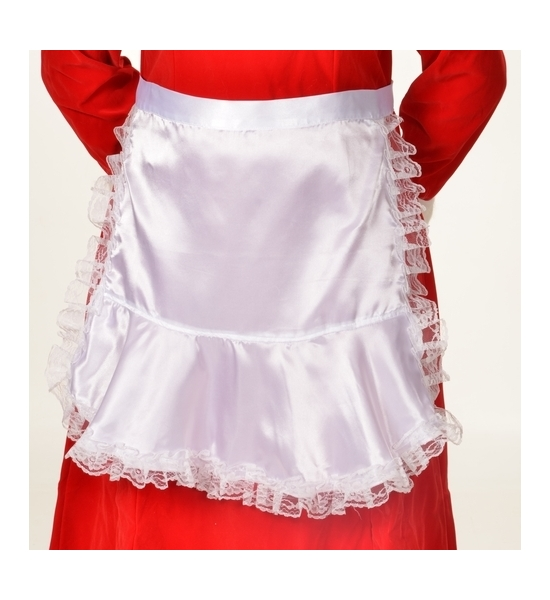 Long Satin Apron
