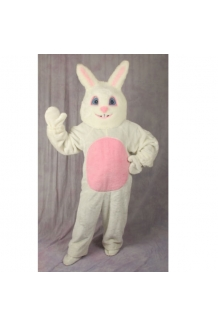 White Bunny Suit With Mascot Head 1092-H