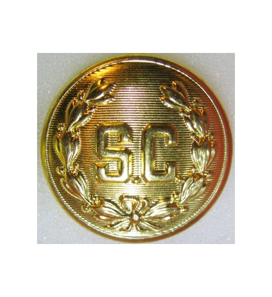 "1 3/4 ""SC'' hat Brooch"