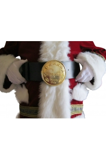 5 1/2 GOLD ROUND SANTA NORTH POLE BELT BUCKLE