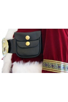 SMOOTH GRAIN SANTA POUCH FOR 4 INCH BELTS W/ MAGNETIC CATCHES