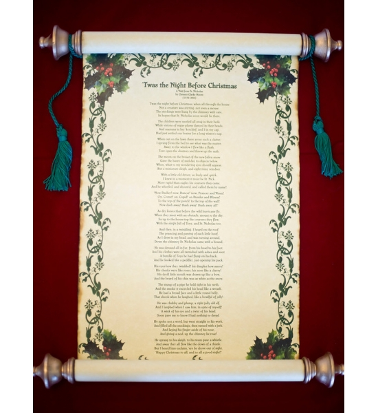 11 x 17 Twas the Night Before Christmas Rolled Scroll