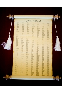 11 x 17 SANTA'S NAUGHTY OR NICE LIST Parchment P..