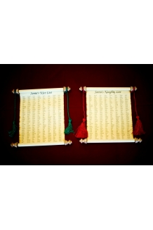 8 1/2 x 11 SANTA'S NAUGHTY OR NICE LIST Parchment Paper