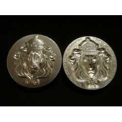 2oz .999 Silver Ultra High Relief Lion Stacker Round