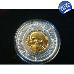 2oz .999 Silver Privateer The Captain Gold Gilded