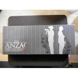 1oz .999 Silver ANZAC Coin and Stamp Set