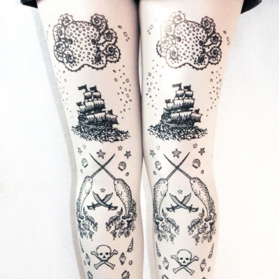 Nautical Tattoo Tights ..