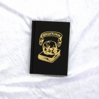 Skull Embossed Sketchbook Small Gold Black A6 Hardback