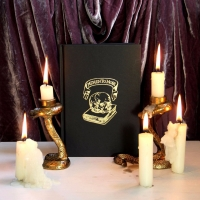 Memento Mori A5 Sketchbook, Gold Embossed Black. Gothic, Artists, Gift