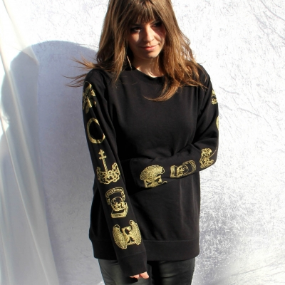 Women's Sleeve Print Sw..