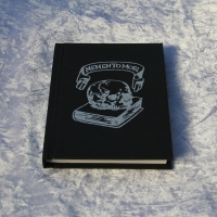 A6 Embossed Sketchbook, Memento Mori, Silver. Mourning Art, Gift