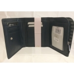 Leather anti-RFID trifold wallet