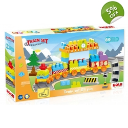 Dolu 89 Piece Train Set 18+ Months