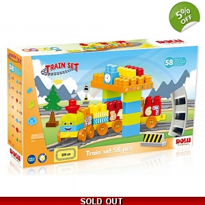 Dolu 58 Piece Train Set..