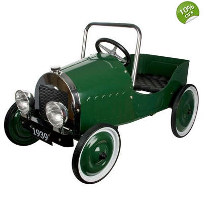 Great Gizmos Classic Green Kids Pedal Car - 3+ Years