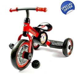 Rastar Licensed BMW Mini Three Wheel Kids Pedal Trike - 2+ Years