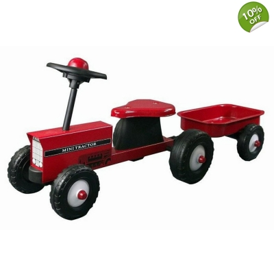 Great Gizmos Red Tractor with Trailer Ride On - 12+ Months