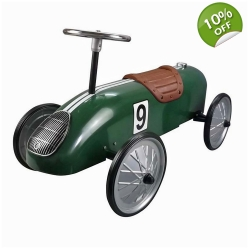 Great Gizmos Retro Racer Sit n Ride Kids Car – Green - 12+ Months