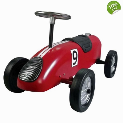 Great Gizmos Retro Racer Sit n Ride Kids Car – Red - 12+ Months