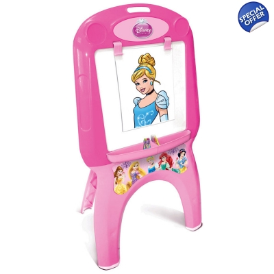 DISNEY Princess My First Foldable Easel Colouring Set Pink - 3+ Years