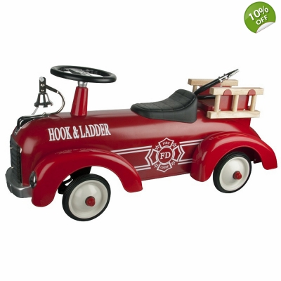 Great Gizmos Sit n Ride Speedster Fire Engine - 12+ Months
