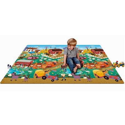 Prince Lionheart Farm/City Play Mat – 0+ Months