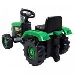 Dolu Kids Green Pedal Ride on Tractor & Trailer – 3+ Years.