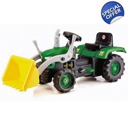 Dolu Kids Green Pedal Ride on Tractor With Front Loader – ..