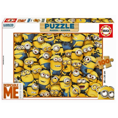 DESPICABLE ME Minion Made 100pcs Wooden Jigsaw Puzzle