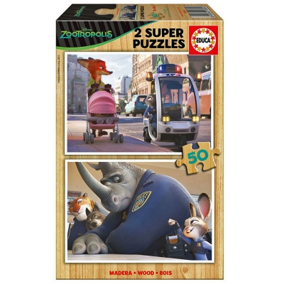 DISNEY Zootropolis 2 Super Officer Judy Hopps 50pcs Wooden Puzzles