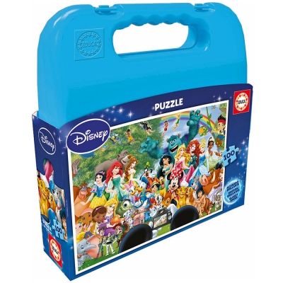 DISNEY The Marvellous World Of Disney Carry Case 100pcs Jigsaw Puzzle