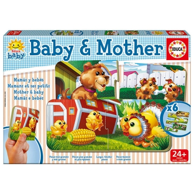EDUCA Baby & Mother Early Learning Puzzles 6 Piece Set - 2+ Years