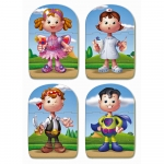 EDUCA Baby Bodies Early Learning Puzzles 4 Sets of 3 Piece - 2+ Years