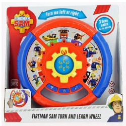 Fireman Sam KD Toys Turn and Learn Wheel - 2+ Years