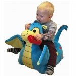 Liberty House Toys Plush Dragon Sofa Riding Chairs Blue