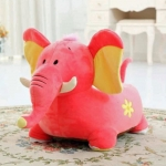 Liberty House Toys Plush Elephant Sofa Riding Chairs Pink