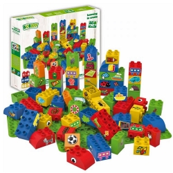 Biobuddi Sports Nature Build blocks with 2 Baseplates 60 P..