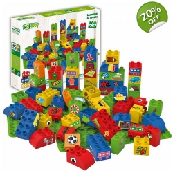 Biobuddi Sports Nature Build blocks with 2 Basep..