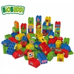 Biobuddi Sports Nature Build blocks with 2 Baseplates 60 Piece Playset