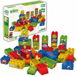 Biobuddi Toys Transport Build blocks with 1 Baseplate 40 P..