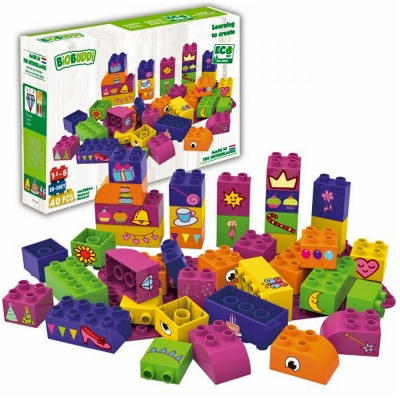 Biobuddi Princess Dress Up Build blocks & 1 Baseplate 40 Piece Playset