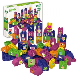 Biobuddi Pretty Things Build blocks with 2 Baseplates 60 P..