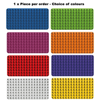 Biobuddi Building Blocks Extra Baseplates 1 Piece Choice Of Colours