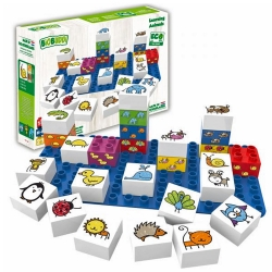 Biobuddi Learning Animals Build blocks & 1 Baseplate 27 Pi..