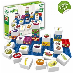 Biobuddi Learning Food Build blocks & 1 Baseplate 27 Piece..
