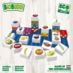 Biobuddi Learning Food Build blocks & 1 Baseplate 27 Piece Playset