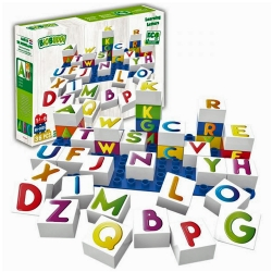 Biobuddi Learning Letters Build blocks & 1 Baseplate 37 Pi..